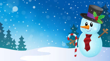 outdoor event: Christmas snowman theme image