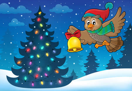 neckscarf: Christmas owl theme image