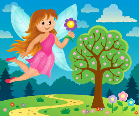 fairy: Happy fairy theme image