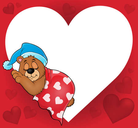 blanket: Bear with heart theme image 4 - eps10 vector illustration. Illustration