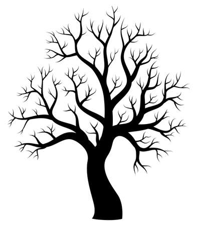 drawing trees: Tree theme silhouette image 1 - eps10 vector illustration. Illustration