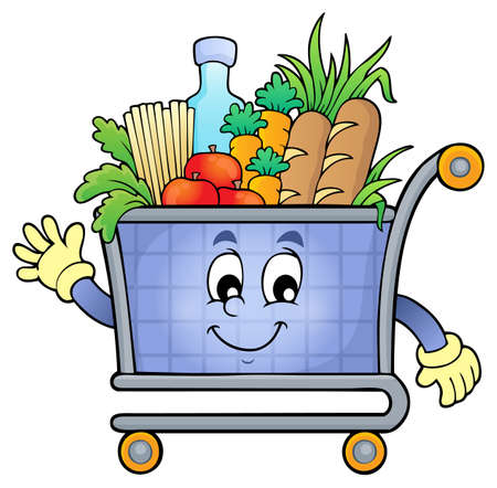 cart: Shopping cart theme image 5 -  vector illustration.