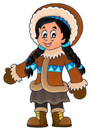 Inuit theme image 3 -  vector illustration.