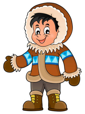 inuit: Inuit theme image 1 -  vector illustration. Illustration