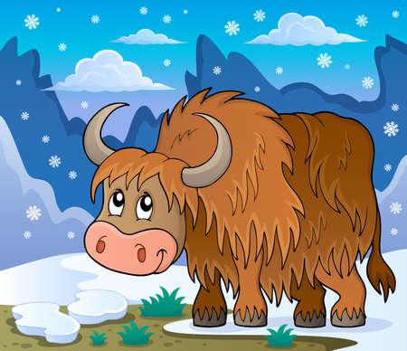 yak: Yak theme image 2 -  vector illustration.