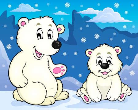 Polar bears theme image 2 -  vector illustration. Illustration