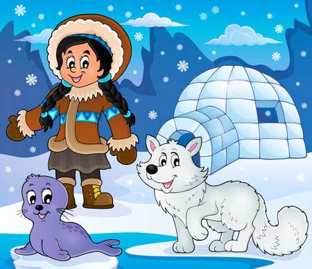 arctic: Arctic theme image 2 - eps10 vector illustration.