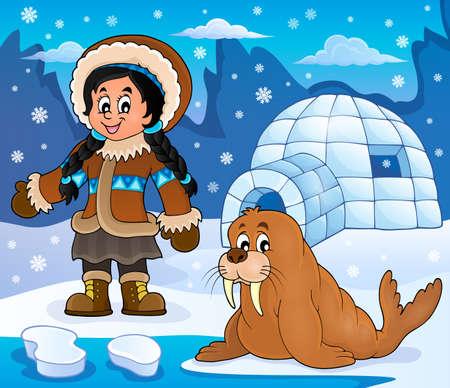 Arctic theme image 4 - eps10 vector illustration. Illustration