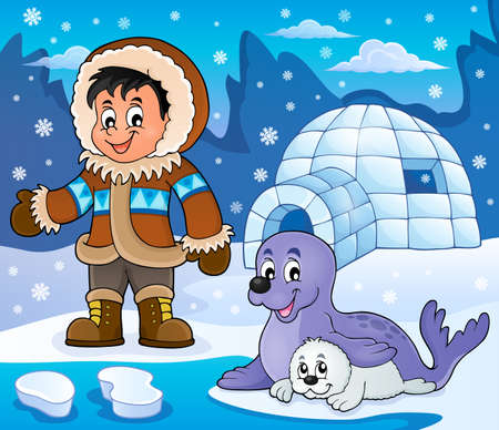 igloo: Arctic theme image 5 - eps10 vector illustration.