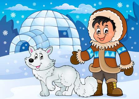 inuit: Arctic theme image 1 - eps10 vector illustration.