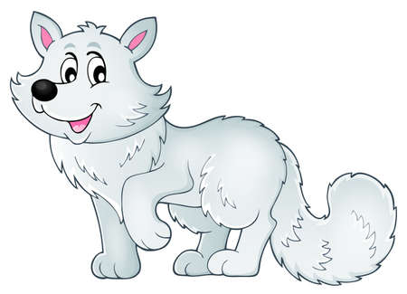 Polar fox theme image 1 - eps10 vector illustration.