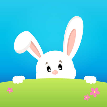 lurk: Image with lurking Easter bunny theme 2 - eps10 vector illustration.