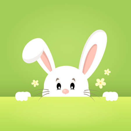 lurking: Image with lurking Easter bunny theme 1 - eps10 vector illustration.