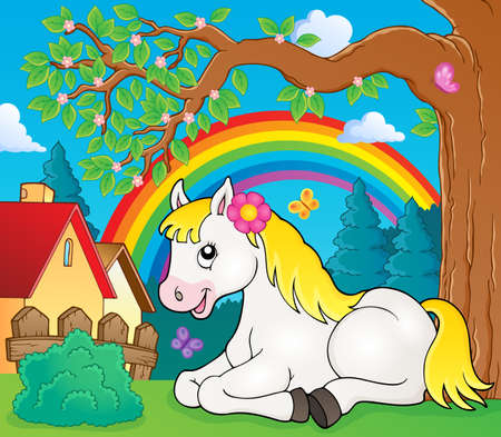 topic: Horse topic image 4 - eps10 vector illustration.