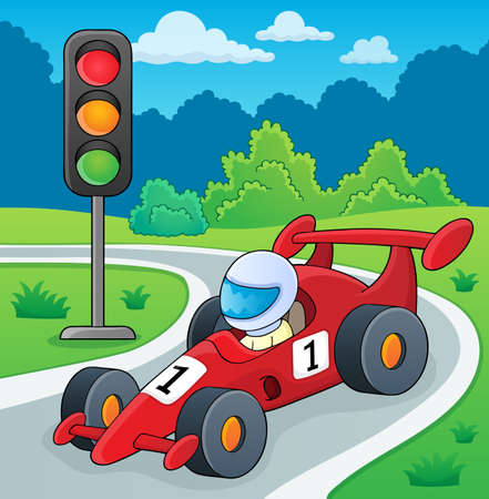 Racing car theme image 2 - eps10 vector illustration.