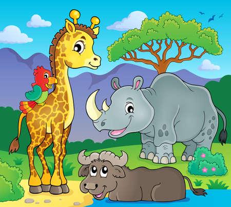 fauna: African fauna theme image 2 - eps10 vector illustration. Illustration