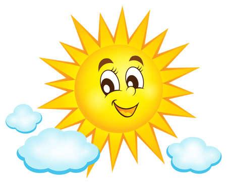 Happy sun topic image 1 - eps10 vector illustration.