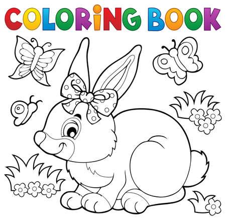 Colorear conejo libro.