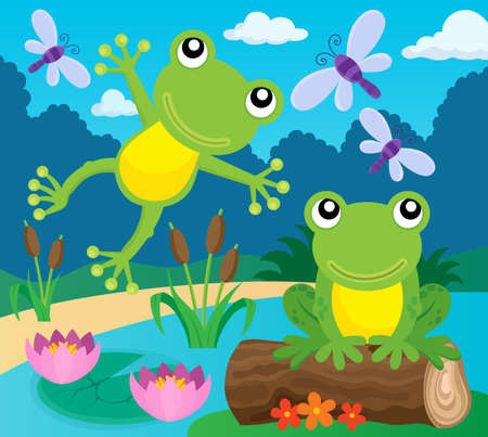 thematic: Frog thematic image. Illustration
