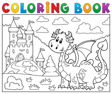 stronghold: Coloring book dragon. Illustration