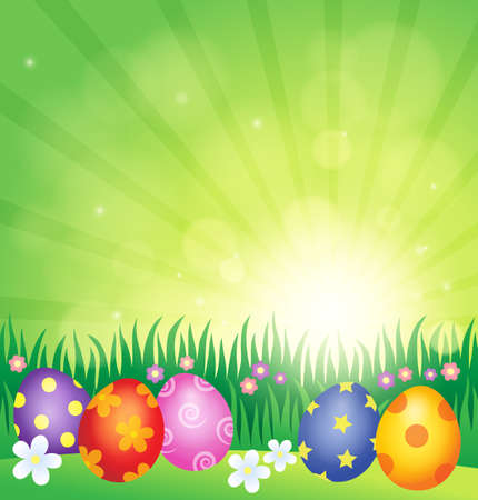 decorated: Decorated Easter eggs theme image.