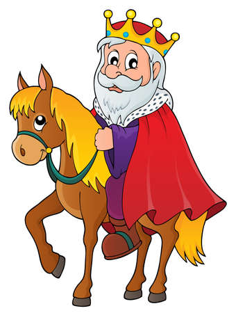 horseback riding: King on horse theme image.
