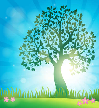 treetop: Spring topic. Illustration