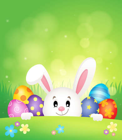 lurking: Easter eggs and lurking bunny theme.