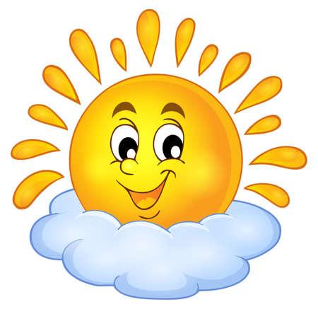 słońce: Wesoła słońce motywu obrazu. Ilustracja