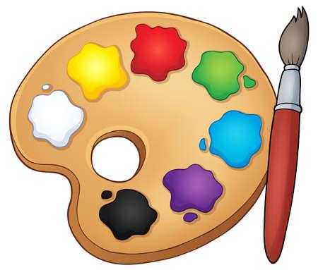 paint palette: Paint palette theme image.