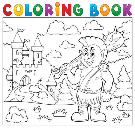 Coloring book orc theme.