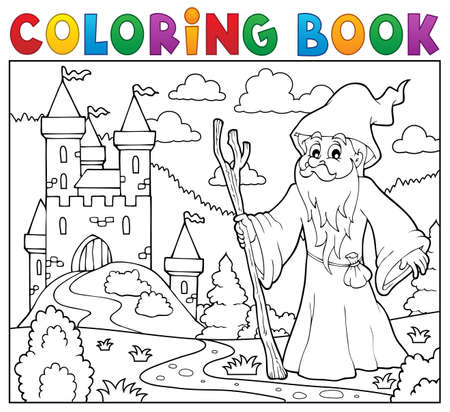 Coloring book druid.