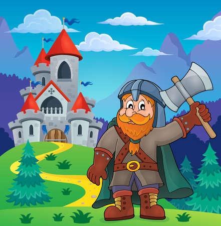 dwarf: Dwarf warrior theme image Illustration