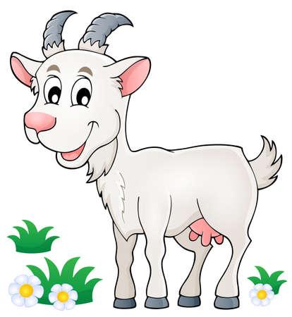 ungulate: Goat theme image Illustration
