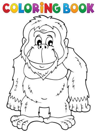 orangutan: Coloring book orangutan theme Illustration