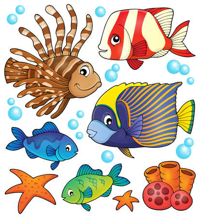 reef fish: Coral reef fish theme collection
