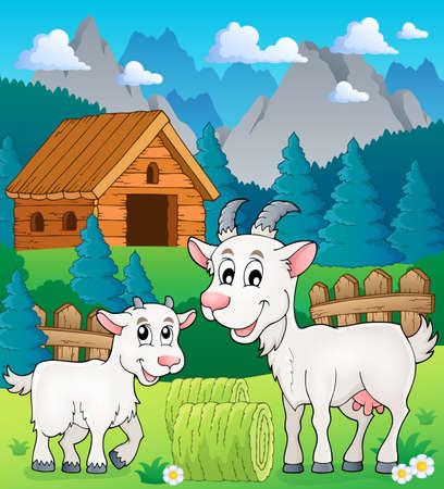 tame: Goat theme image 3 - eps10 vector illustration.