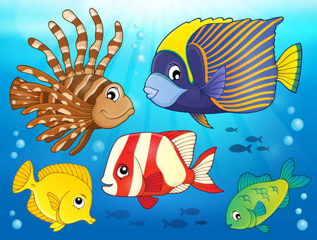lionfish: Coral reef fish theme image