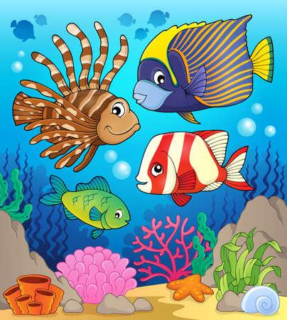 reef fish: Coral reef fish theme image