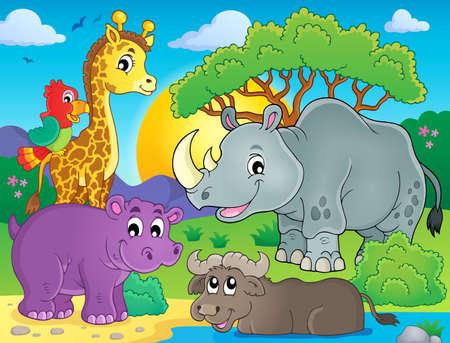 fauna: African fauna theme image