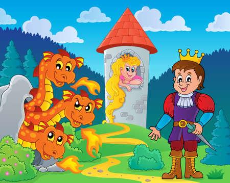 wyvern: Fairy tale theme image Illustration