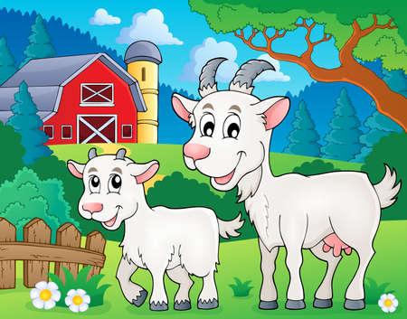 barnyard: Goat theme image Illustration
