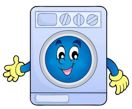 image machine thema Washing Vector Illustratie