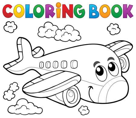 theme: Coloring book airplane theme