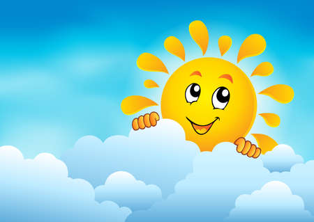 sky sun: Cloudy sky with lurking sun