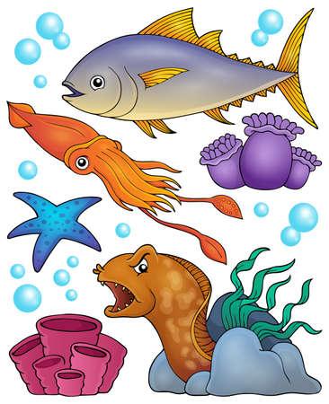 Ocean fauna topic set