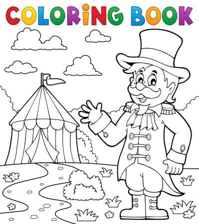 thème cirque ringmaster livre de coloriage