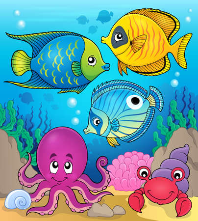 fauna: Coral fauna theme image