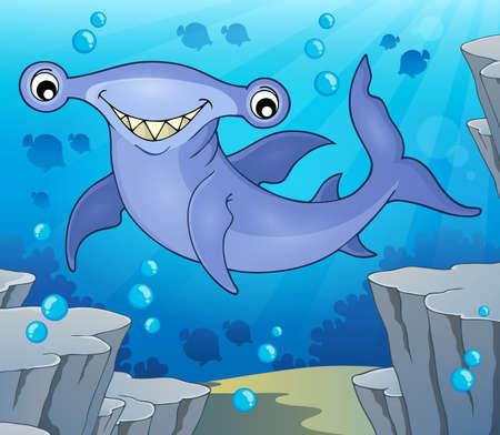 pez martillo: Imagen del tema de tiburón martillo