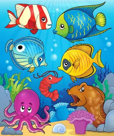 sea anemone: Coral fauna theme image